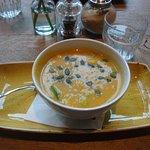 Delightful Pumpkin Soup made with Coconut Milk!