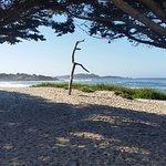 Vista da praia de Carmel. Ótimo lugar para ver o pôr do sol.