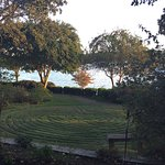 A view of the labyrinth in the garden on the shores of Lake Hamilton.