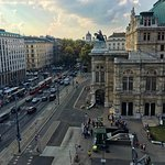 The view of the Vienna State Opera (Wiener Staatsoper) from our balcony.
