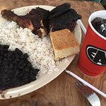 Jerk Chicken(1/2 of a chicken), Black Beans and Rice $7