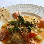 Langoustine aux épices en risotto