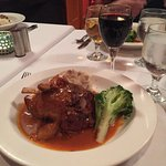 'Slow cooked Pork Shank' in creamy Chipotle