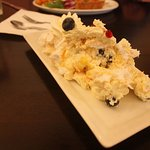 Lemon curd blueberry roulade with whipped cream!