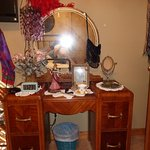 vanity in bedroom