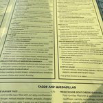 Menu selections,  Martha's 22nd Street Grill, 25 22nd St, Hermosa Beach, CA