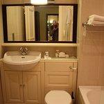 spotless and spacious bathroom