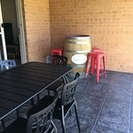 Outdoor dining and verandah
