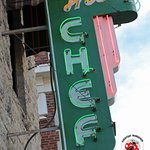 The original neon sign is back out front of The Chef