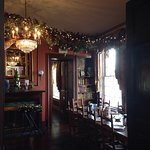 Holiday decor in the Manor