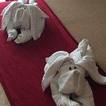 Realizan este tipo de figuras todos los días con las toallas, vimos cinco diferentes