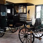 Carriage in the waiting area. An interesting movie plays here .