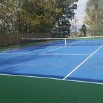 newly refinished multi-courts- tennis, basketball, four square, hop scotch