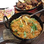 Chicken Karahi, Salad & Mixed Grill Platter