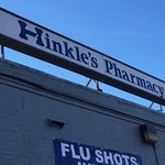 This sign will take you to the 123 year old pharmacy.