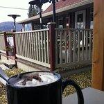 Yummy hot chocolate enjoyed outdoors