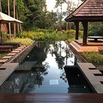 The pool at our private pool villa. Private enough for skinny dipping!