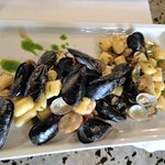 My seafood special - mussels and clams and shrimp and more, oh my!