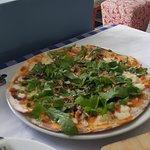 Pizza masa delgada