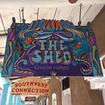 Our concierge recommended The Shed, with yummy (but hot) New Mexican cuisine.