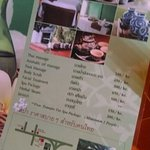 The menu of the discounted price of the Raintree spa at Sino House