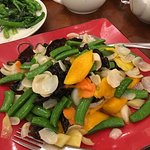 fresh lily stir fried with green bean and fungus and mango