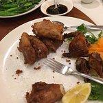 deep fried pork ribs in dried mandarin skin sauce