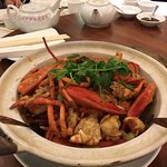 lobsters in ginger and green onion sauce with vermicelli