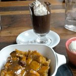 Persimmon & Pumpkin Bread Pudding & Chocolate Pudding