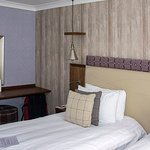 Separate bedroom configured as twin or double,