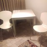 Table and chairs in the room