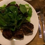 Three petite fillets and salad Cafe Bacacay