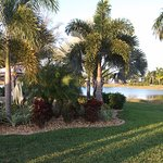 One of the two lakes at Cypress Wood RV Resort