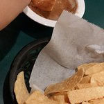 Bean dip and chips