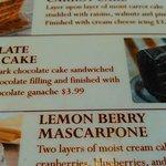A peek at the Dessert Menu,(next time, you're mine).