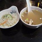 Soupe et salade de choux