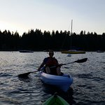 Paddling on Lake Tahoe for the sunset tour