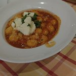 The food we ordered...It is vegetable Gnocchi!!