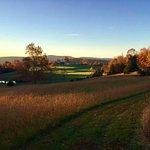 sunrise side of Antietam Overlook B&B, pathways mowed for superb walks
