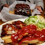 BBQ Chicken Sandwich and Ketchup!