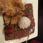Fried fish, red beans and rice