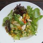 Mango, avocado & prawn salad