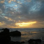 November sunset from beach just north of Cannon Beach.