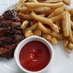 flat iron steak & frites