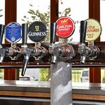 Choose from a wide variety of beer and cider on tap.
