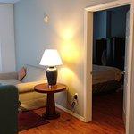 Room 426, Living area looking into king bedroom