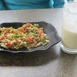 Salad with lassi