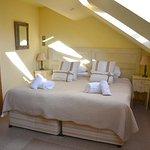 very light bright main bedroom