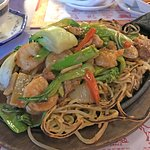 Fried Noodles With Three Meats and Vegetables