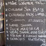 A recent list of specials. You will smell the aroma and salivte at this point.